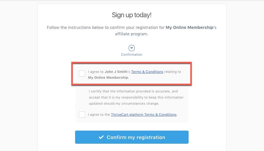 Setting your affiliate terms & conditions – ThriveCart Helpdesk